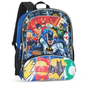 """Warner Brother's Justice League Backpack 16"""""""